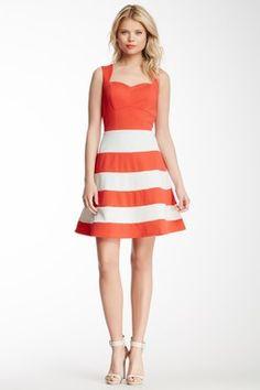 Romeo & Juliet Couture Striped Bottom Dress