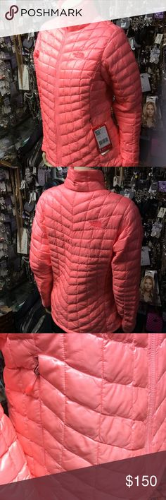 NEW!! The North Face Womens Jacket Beautiful thermoball Women's active fit jacket. Outdoor perfect for working out. Neon peach color. Makes a great holiday gift. Make an offer! Make it yours! Great condition. Never worn. NEW! No flaws The North Face Jackets & Coats Utility Jackets