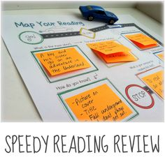 Speedy Reading Review: A quick way to review reading strategies with students. Great for parent volunteers! $