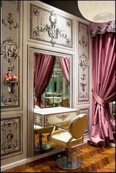 Vanity and dressing tables on pinterest dressing tables for Beauty parlour dressing table images
