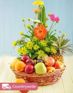 Flowers: Fresh Fruit and Flower Basket!