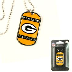 Green Bay Packers NFL Dog Tag Necklace