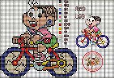 Mônica ciclista