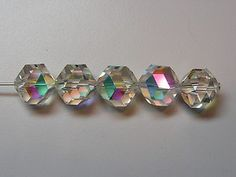 48 PIECES VINTAGE SWAROVSKI BEADS #371/5007 11MM CRYSTAL AB - FACTORY PACKAGE | eBay