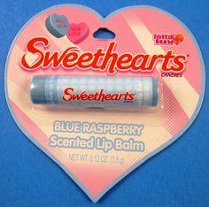 Lotta Luv Sweethearts Blue Raspberry Scented Lip Balm .12 Oz New