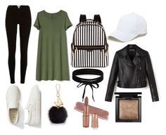"""""""Untitled #57"""" by natalie-maresova ❤ liked on Polyvore featuring Gap, River Island, Henri Bendel, Sole Society, Furla, Boohoo and Bare Escentuals"""