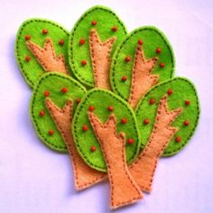 apple tree felt applique