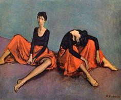 Dancers reposed - Moses Soyer (1899 – 1974)