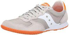 Saucony Originals Men's Bullet Classic Retro Running Shoe, Grey/Orange, 7 M US Saucony