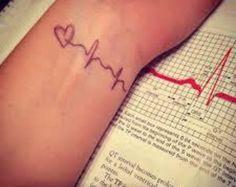 2pcs Heartbeat tattoo - InknArt Temporary Tattoo -  wrist quote tattoo body sticker fake tattoo wedding tattoo small tattoo