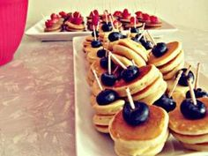 Cute Mini Pancake skewers for a brunch by freda