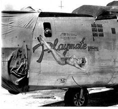 "B-24 Liberator - ""Playmate""."