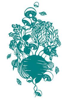 Sarah Dennis Paper Cut Art Illustration  Mushroom