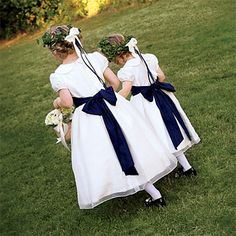 Brides: Elizabeth and Joshua in Newport, RI. The flower girls wore Eve & Ellie dresses.