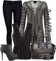 """""""show me your stripes contest"""" by candy420kisses ❤ liked on Polyvore"""