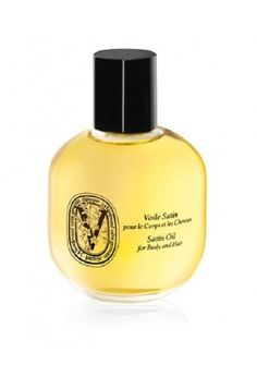 Voile Satin - Satin Oil for Body and Hair by Diptyque featuring jasmine, ylang and saffron in avocado and roucou oil.