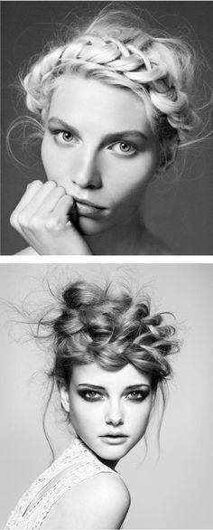 I'm wearing my hair like this every day (bottom one)