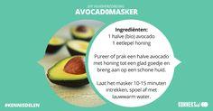 Avocado-gezichtsmasker: snel, makkelijk en heel goed voor je huid! #diy #beauty #gezichtsmasker