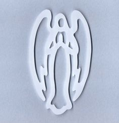 Christmas Decoration Angel Ornament White Hand Cut Acrylic Scroll Saw