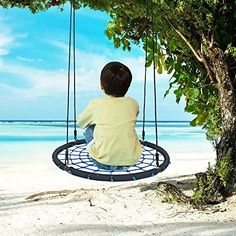 SUMMERSDREAM 40 INCH Round Swing Playground Swing 40 inch Diameter Safe /& Easy Mounting to Trees or Swingset red
