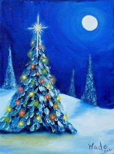 Oh Christmas Tree - oil by ©Craig Wade (via FineArtAmerica)