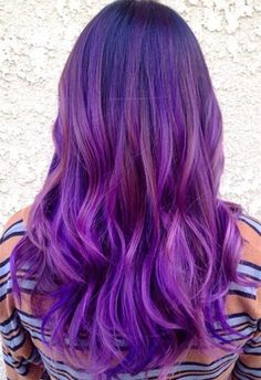 Purple ombre & balayage hairstyle,for dark hair color 2015 summer