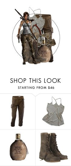 """""""Tomb Raider // Lara Croft"""" by annieisawallflower ❤ liked on Polyvore featuring STELLA McCARTNEY, Zadig & Voltaire, Diesel and AllSaints"""