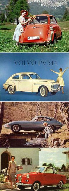 """Vintage cars.  I had to drive my dad's Volvo like the white one above.  It was red and ugly and I called it the """"pig""""!"""