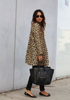 Coat: Zara | Jeans: Kova T (DIY rips) | Tee: UNIF | Flats: Zara | Necklace: Jennifer Zeuner | Bag: Celine | Shades: Ray Bans | Rings: Gabriela Artigas | Bracelet: Sincerely Jules.