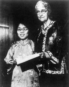 Donaldina Cameron and Kum Quai, 1910s same image appears dated 1930s in Martin with Hope Chow