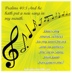 A Child of God ought to have a music philosophy that is based on Scripture. Do you have one? Psalm 40:3 is a good music philosophy in a nutshell.