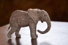Baby Elephant Needle Felted by Teresa Perleberg