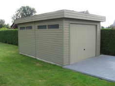 Houten garage - Tuinhuizen - poorten.be