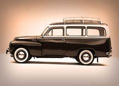 Volvo Duett 1953-1969, this was the station wagon version of the PV444-544. I have never seen one, looks very cool!