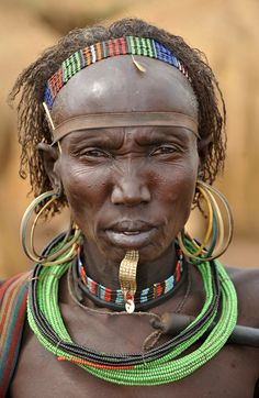 Africa | Elderly Jie woman.  Southern Sudan | ©World Discoverer