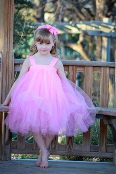 Pink Tutu Dress for Flower Girl, Fairy Princess « Clothing Impulse