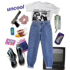 Goo by lithiummm on Polyvore featuring Floyd, Levi's, Dr. Martens, Laser Kitten, Pieces and WALL