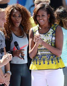 Serena Williams and Michelle Obama