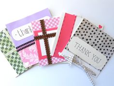 Handmade Thank You Note Cards by LigiaClaudia on Etsy, $22.00