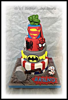 Supereroi cake