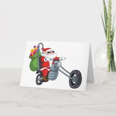 motorcycle biker santa claus holiday card   drag racing quotes, car ride quotes, biker tattoos ideas #moto #bikelove #bikelife, 4th of july party Xmas Cards, Holiday Cards, Harley Davidson, Biker Photography, Biker Tattoos, Riding Quotes, Vintage Cycles, Biker Quotes, Christmas Humor