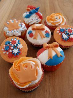 Mijn zelf gemaakte Oranje Cupcakes!!
