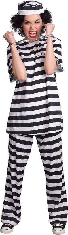 female prisoner adult costume - small (4-6)