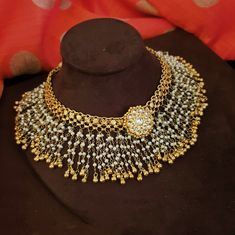 Jewelry OFF! Silver gold plated kundan and pearl statement piece Indian Jewelry Sets, Silver Jewellery Indian, Indian Wedding Jewelry, Bridal Jewelry, Antique Jewellery, Indian Bridal, Pearl Necklace Designs, Jewelry Design Earrings, Gold Jewellery Design