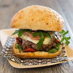Burger al'italiana #hamburger #cuisineitalienne #recette #gastronomie #gastronomy #recipe