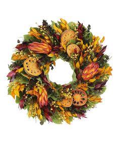 Look what I found on #zulily! Indian Summer Protea 16'' Wreath #zulilyfinds $34.99 $58.00