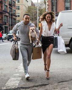 Chrissy Teigen and John Legend Show PDA in the Street