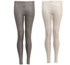 New Womens AW12 Sexy Party Shiny Metallic Wet Look Glitter Stretch Leggings
