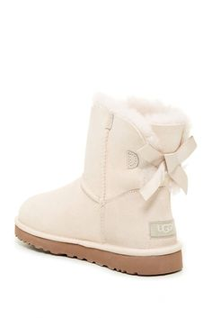 Mini Bailey Bow Genuine Sheepskin Lined Boot