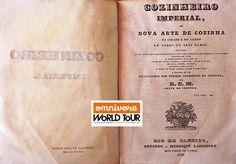 """Books on the table: O primeiro livro de culinária brasileiro, """"O Cozinheiro Imperial"""" foi publicado em 1840 por um autor desconhecido! Saiba mais:http://www.revistadehistoria.com.br/secao/artigos/o-mestre-cuca-sem-nome"""